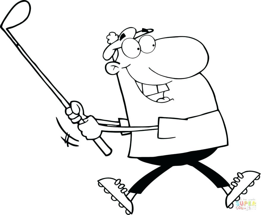 878x724 Golf Coloring Page Coloring Pages Collection