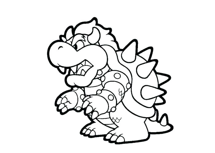 700x500 Mario Cart Coloring Pages