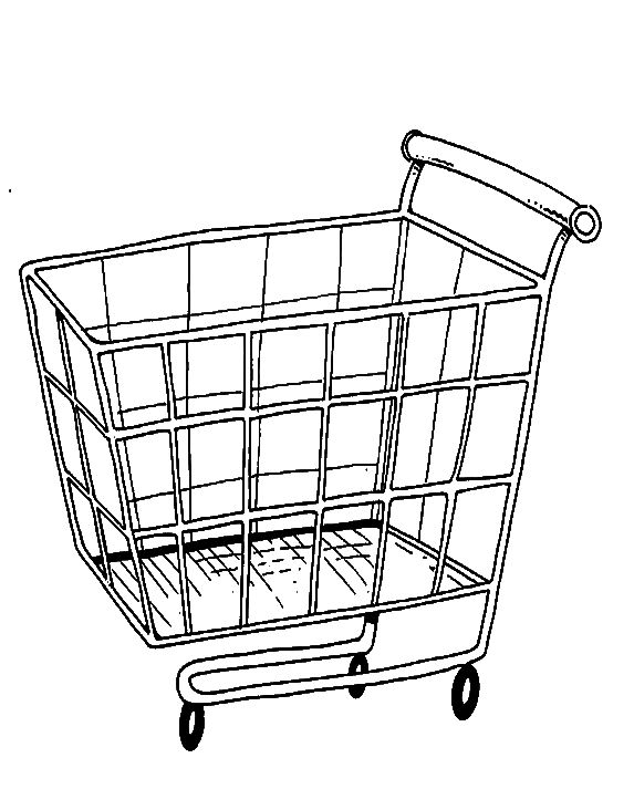 573x713 Cart Coloring Pages At Shopping Cart Coloring Page