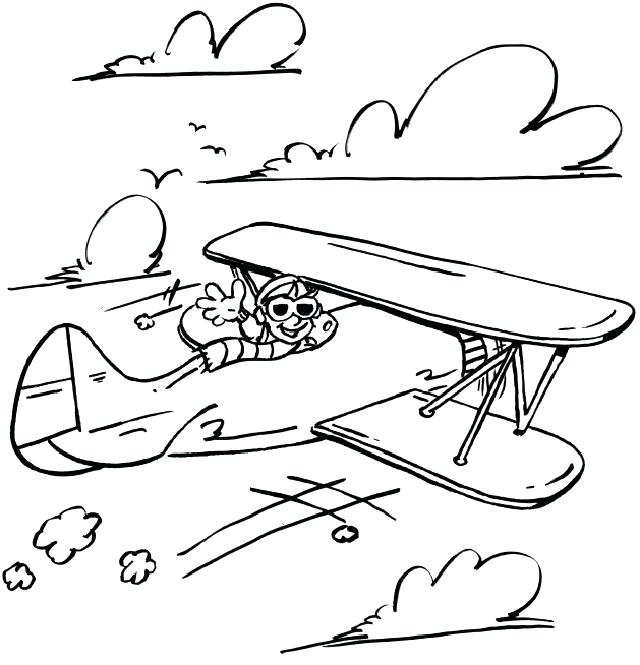 640x665 Airplane Pictures To Color Also Airplane Color Pages Airplane