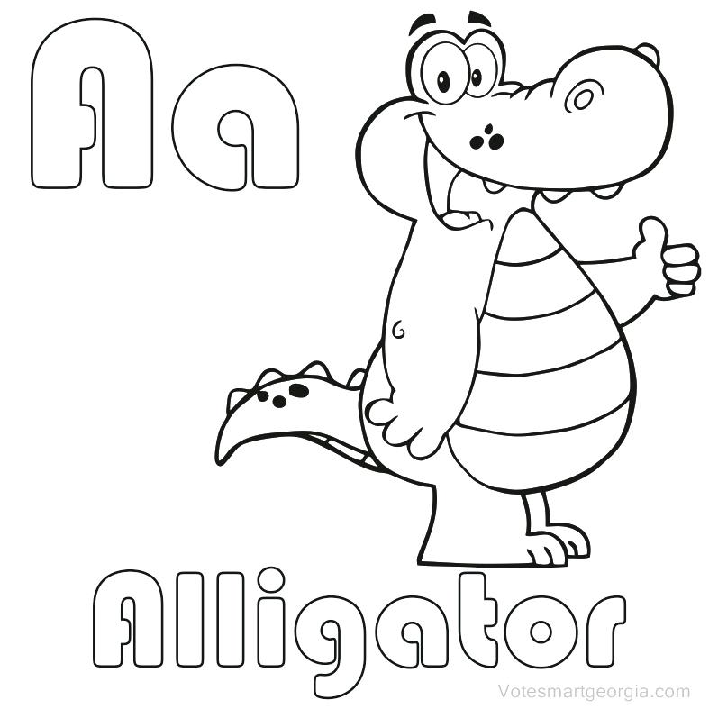 787x787 Alligator Coloring Page Cartoon Alligator Coloring Page Cute