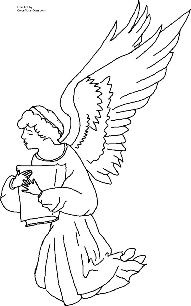 728x1164 Baby Angel Coloring Pages Baby Angel Coloring Pages Cartoons Angel