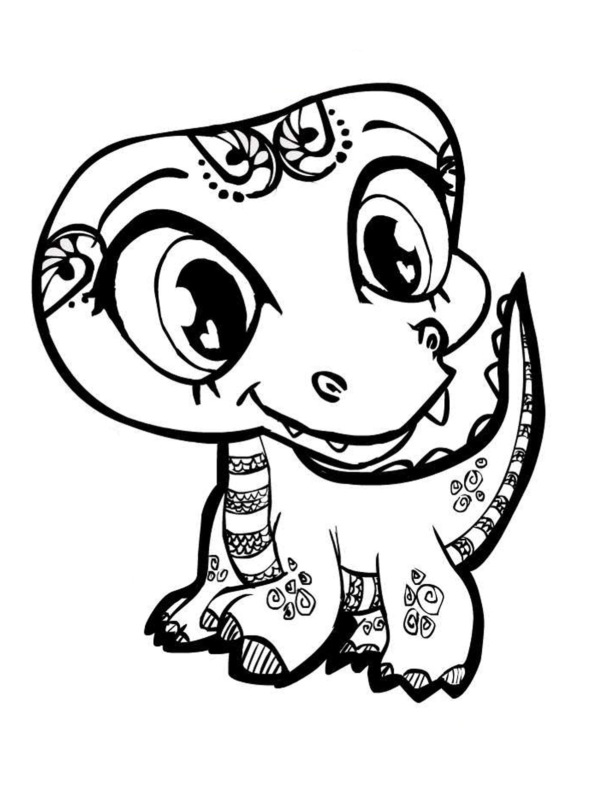 1200x1600 Cute Smiling Alligator Free Coloring Page Animals, Kids Coloring