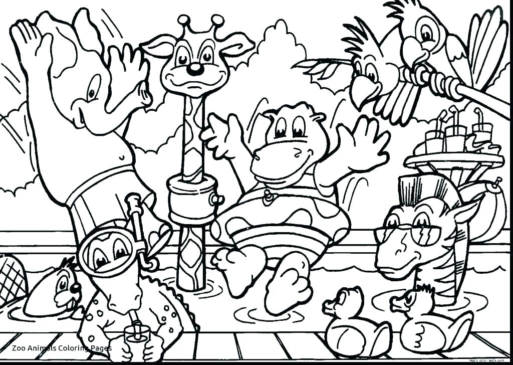 1024x728 Jungle Animals Coloring Page The Jungle Book Coloring Pages Jungle