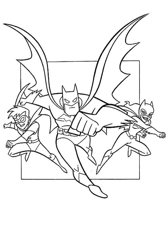 Cartoon Batman Coloring Pages