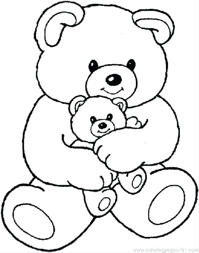 Cartoon Bear Coloring Pages