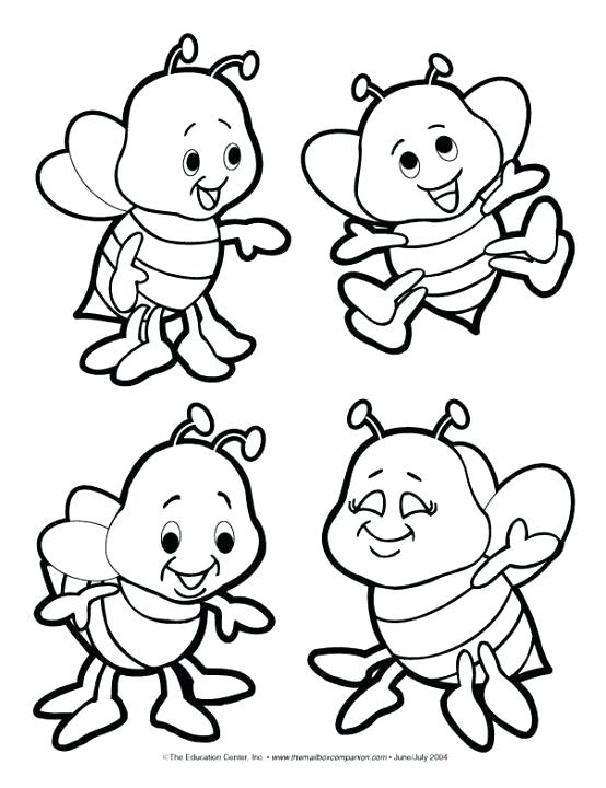 554x720 Bees Coloring Pages Cartoon Bee Coloring Page
