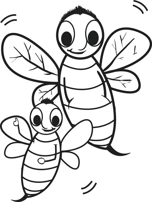 527x700 Best Photos Of Cartoon Bee Coloring Pages Printable Bumble Bee