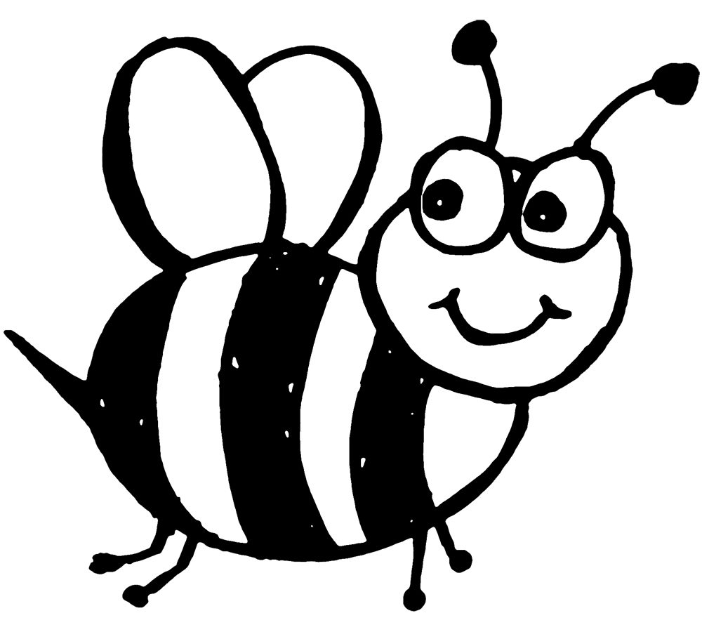 1000x900 Bumble Bee Coloring Page Inside Pages