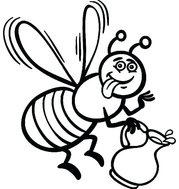 600x632 Coloring Pages Bees Honey Bee Coloring Page Coloring Pages