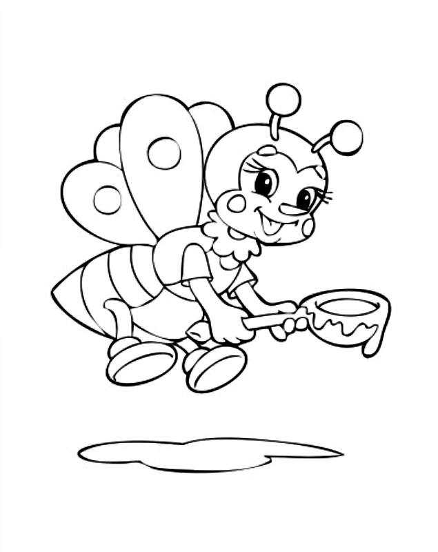635x800 Cute Bumble Bee Coloring Pages Download And Print For Free