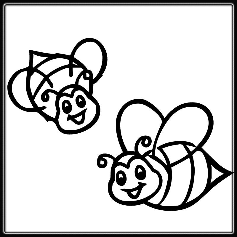 800x800 Free Printable Bumble Bee Coloring Pages Cartoon Download