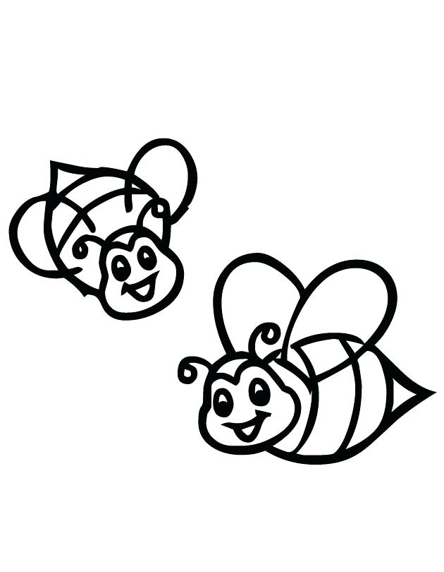 630x810 Related Cartoon Bee Coloring Pages Free Bumble And Printable