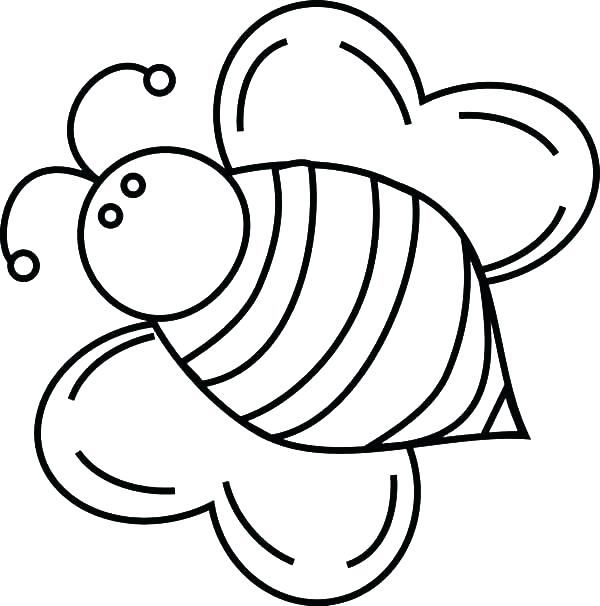 600x606 Amazing Bee Coloring Page Or Printable Cartoon Bee Coloring Page