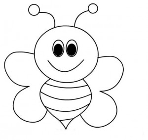 300x283 Bee Coloring Pages For Kids