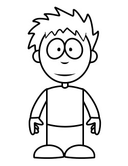 250x324 Boy Coloring Pages