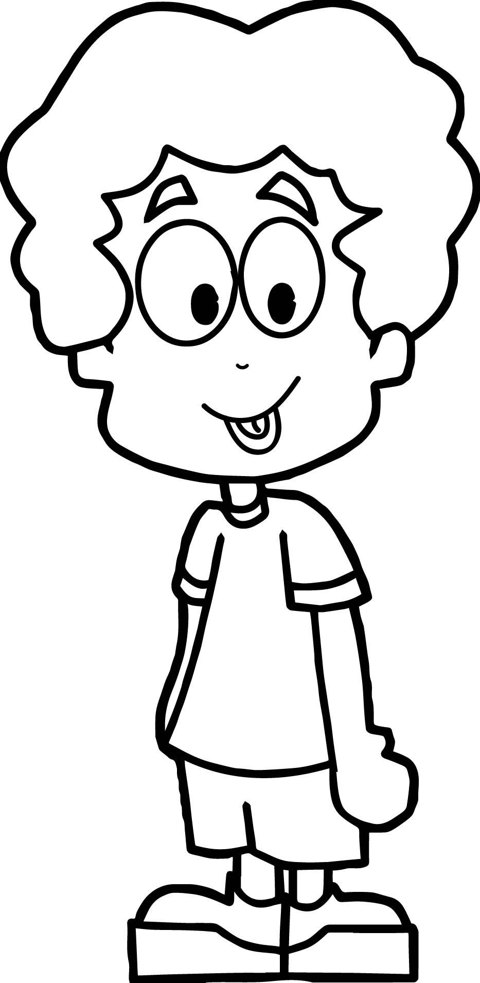 933x1910 Cartoon Boy Coloring Page Wecoloringpage