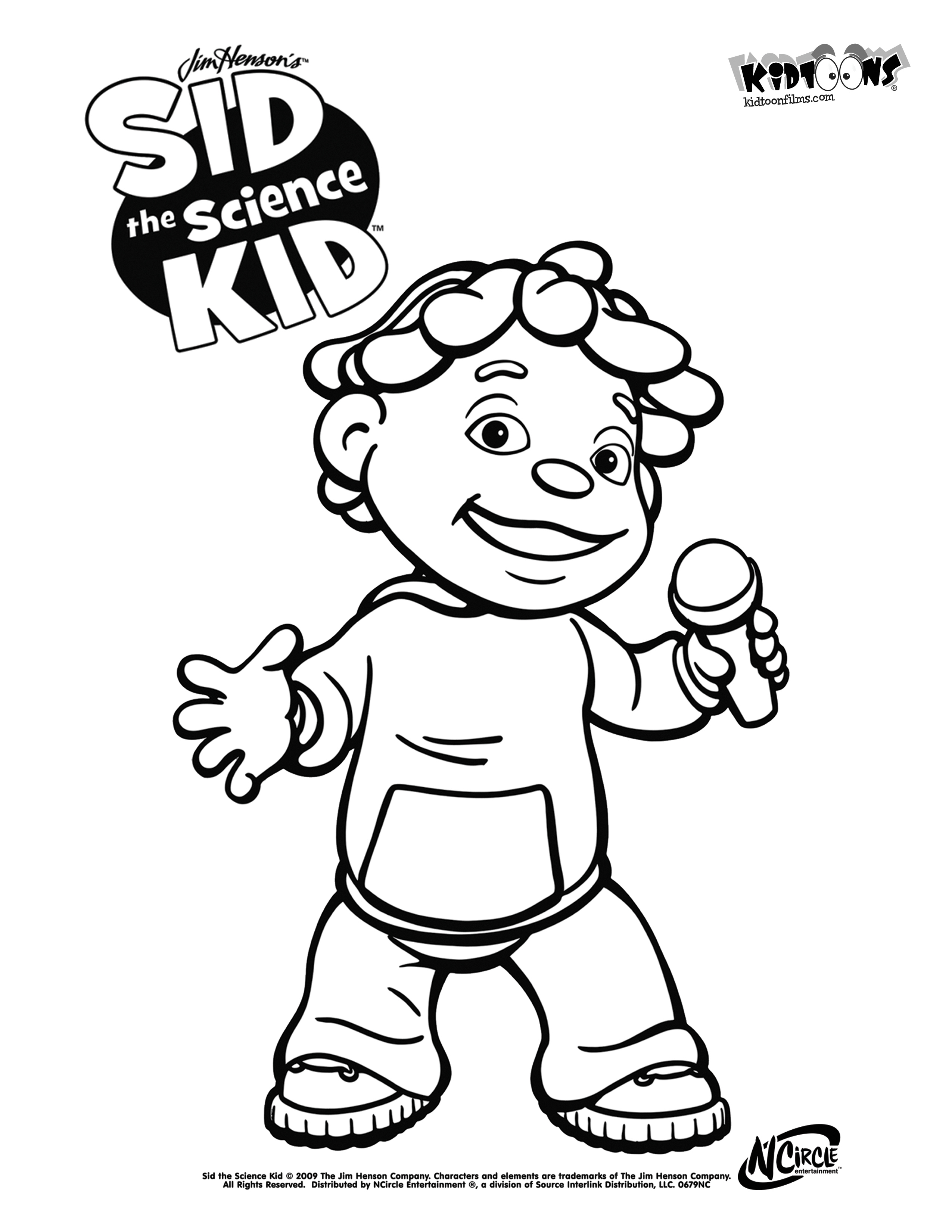 2550x3300 Sid The Science Kid Coloring Pages To Download And Print For Free