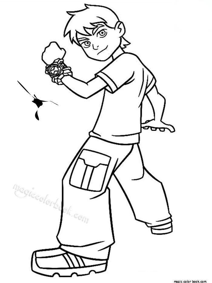700x933 Ben Omnitrix Coloring Page Cartoon Boy
