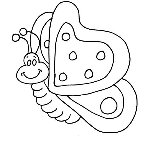 485x485 Cartoon Butterflies Coloring Pages Color Bros