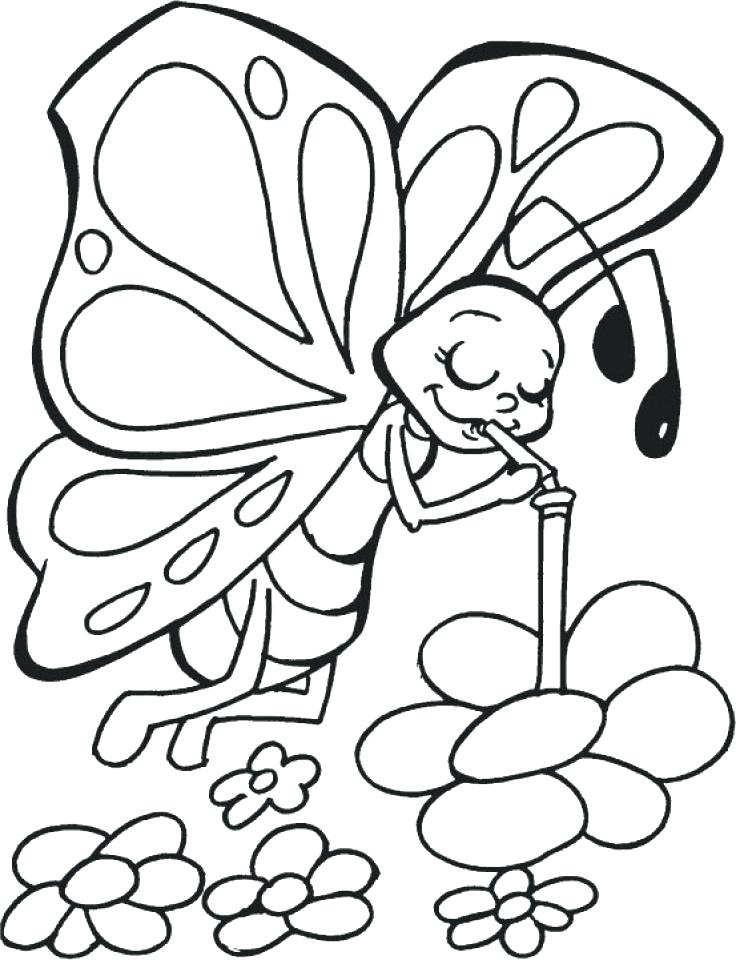 736x960 Coloring Pages Butterflies Cartoon Butterfly Coloring Pages