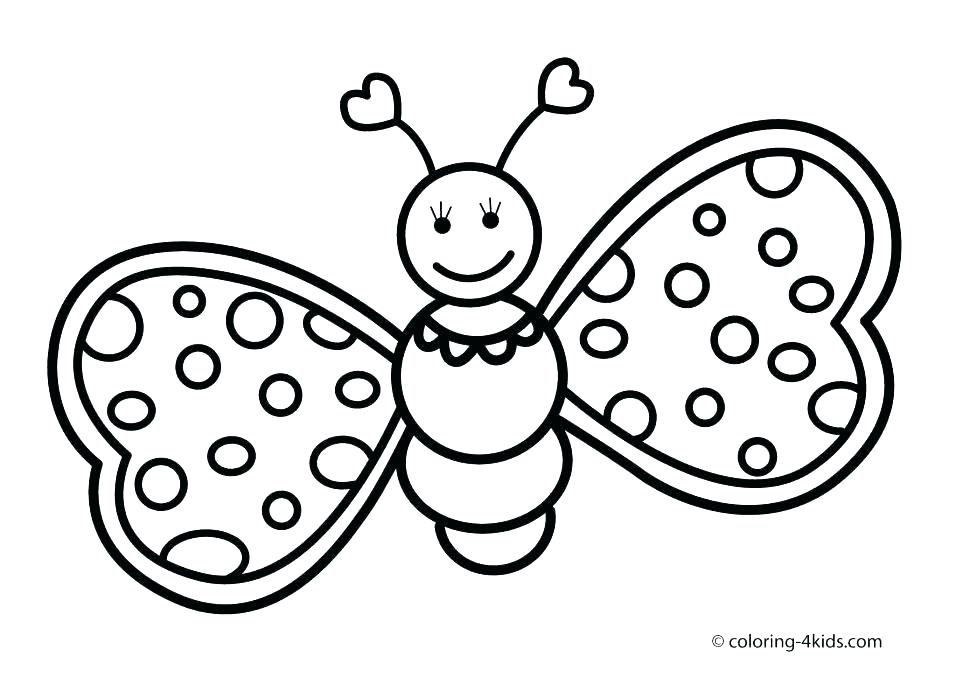 970x692 Coloring Pages Of Butterflies Coloring Page Of Butterfly Cartoon