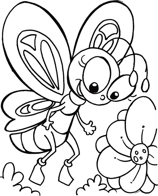551x683 Cute Butterfly Coloring Pages