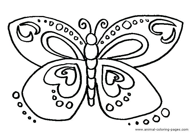 668x470 Largest Cartoon Butterfly Coloring Pages Cute Page Simplified