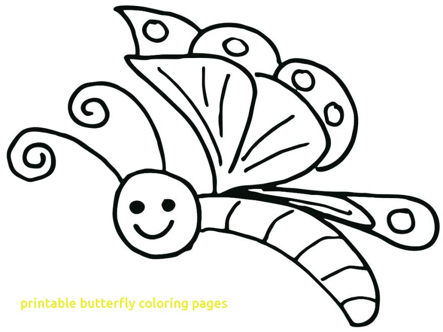 878x659 Printable Butterfly Coloring Pages With Cartoon Butterfly Coloring
