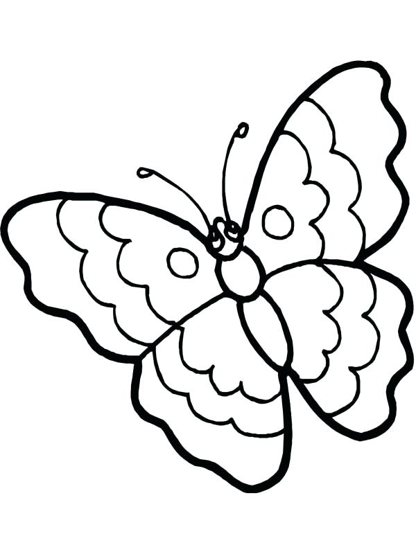 600x800 Butterfly Coloring Page Outstanding Cartoon Butterfly Coloring
