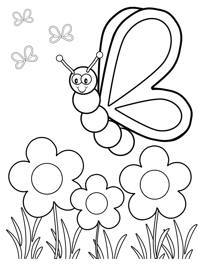 824x1100 Strong Cartoon Butterfly Coloring Pages