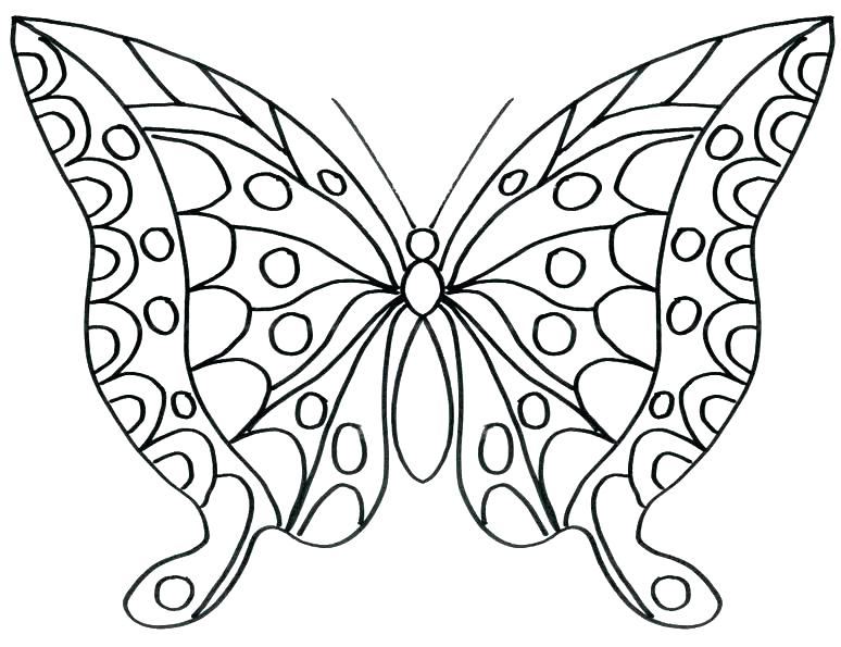 774x595 Butterfly Coloring Pages Printable