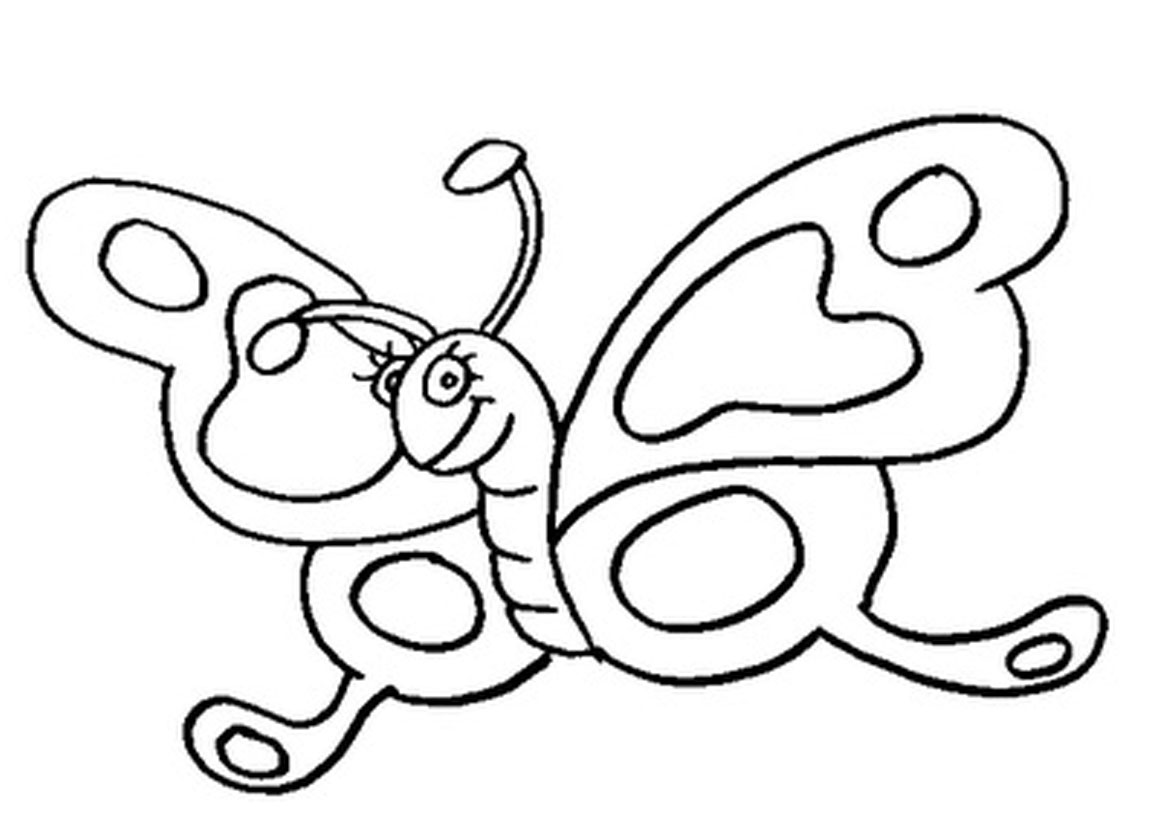 Cartoon Butterfly Coloring Pages At Getdrawings Com Free For