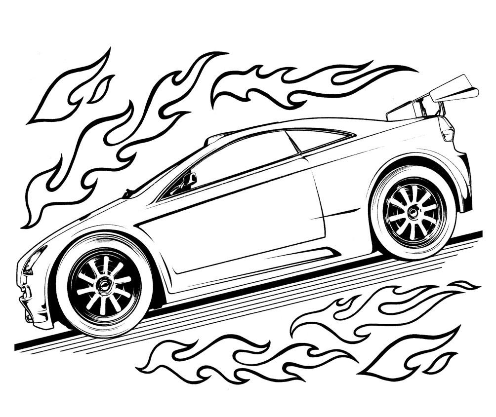 1004x845 Cartoon Car Coloring Pages Free Printable Hot Wheels Coloring