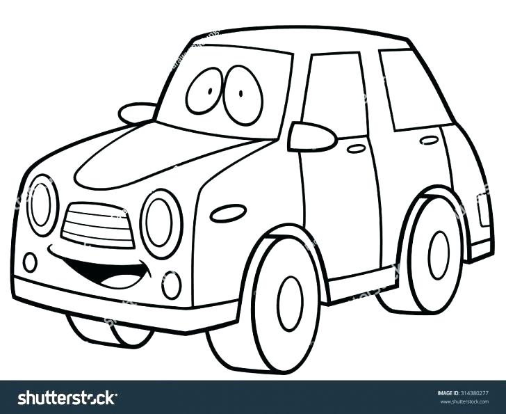 728x595 Cartoon Car Coloring Pages Stock Car Coloring Sheets Book Online