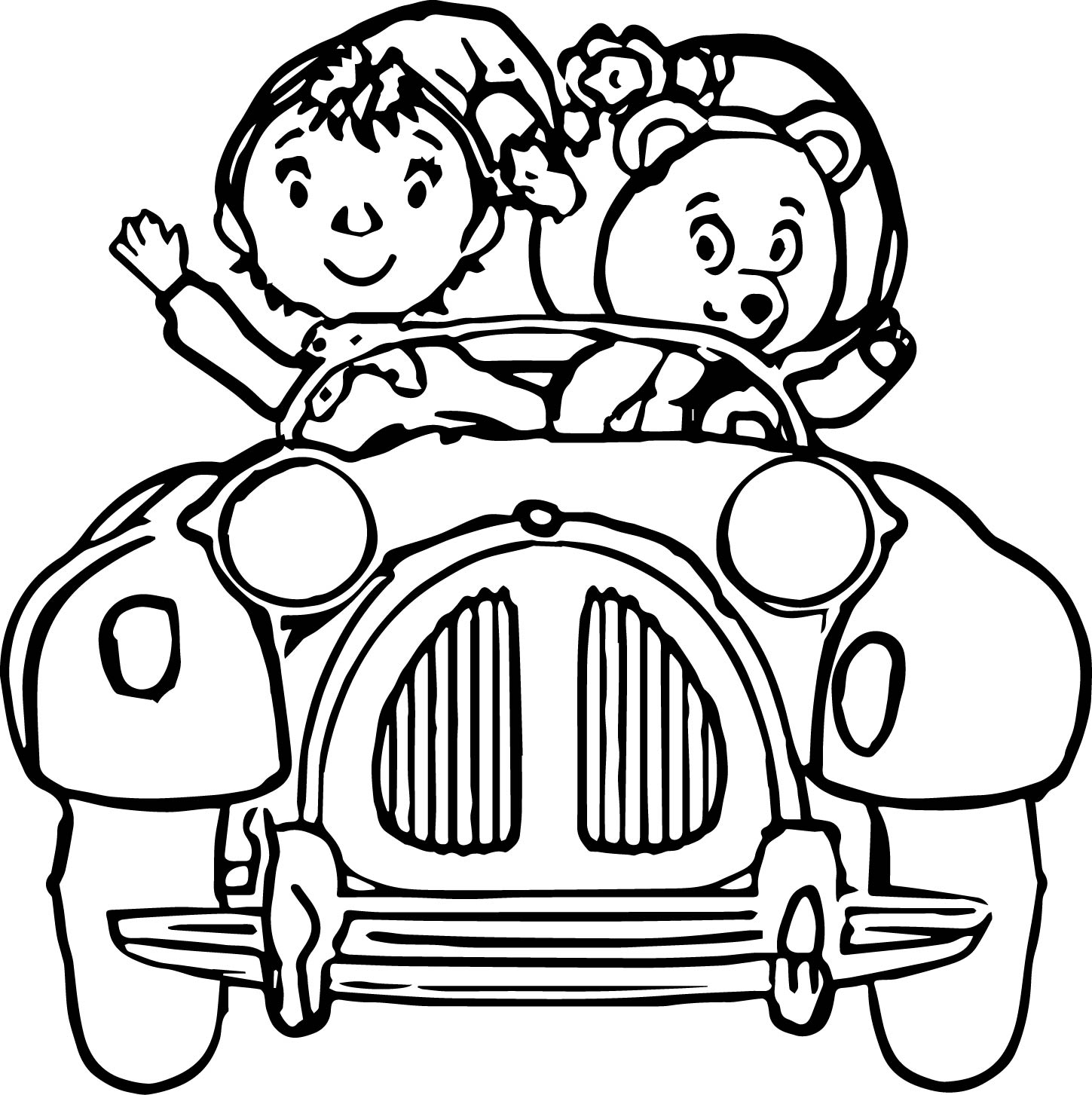1449x1453 Noddy Cartoon Coloring Pages Wecoloringpage