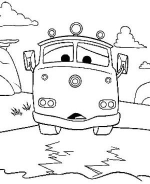 300x368 Printable Cartoon Cars Coloring Pages Coloring Pages {cars