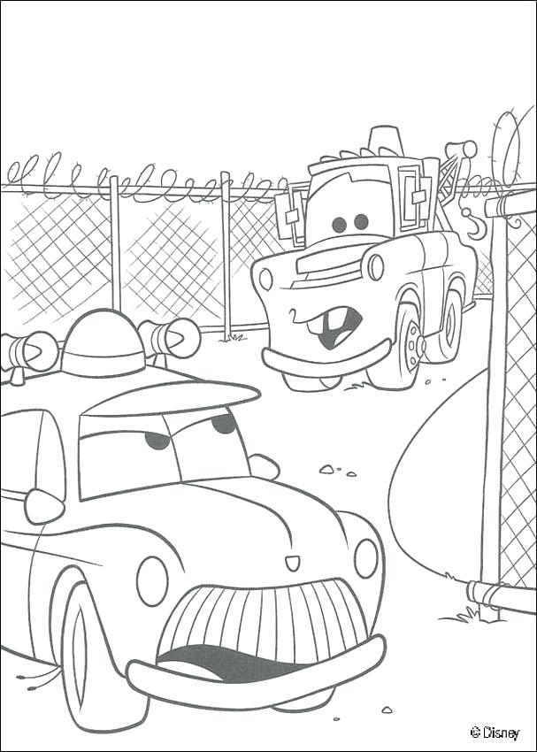 607x850 Police Car Coloring Pages