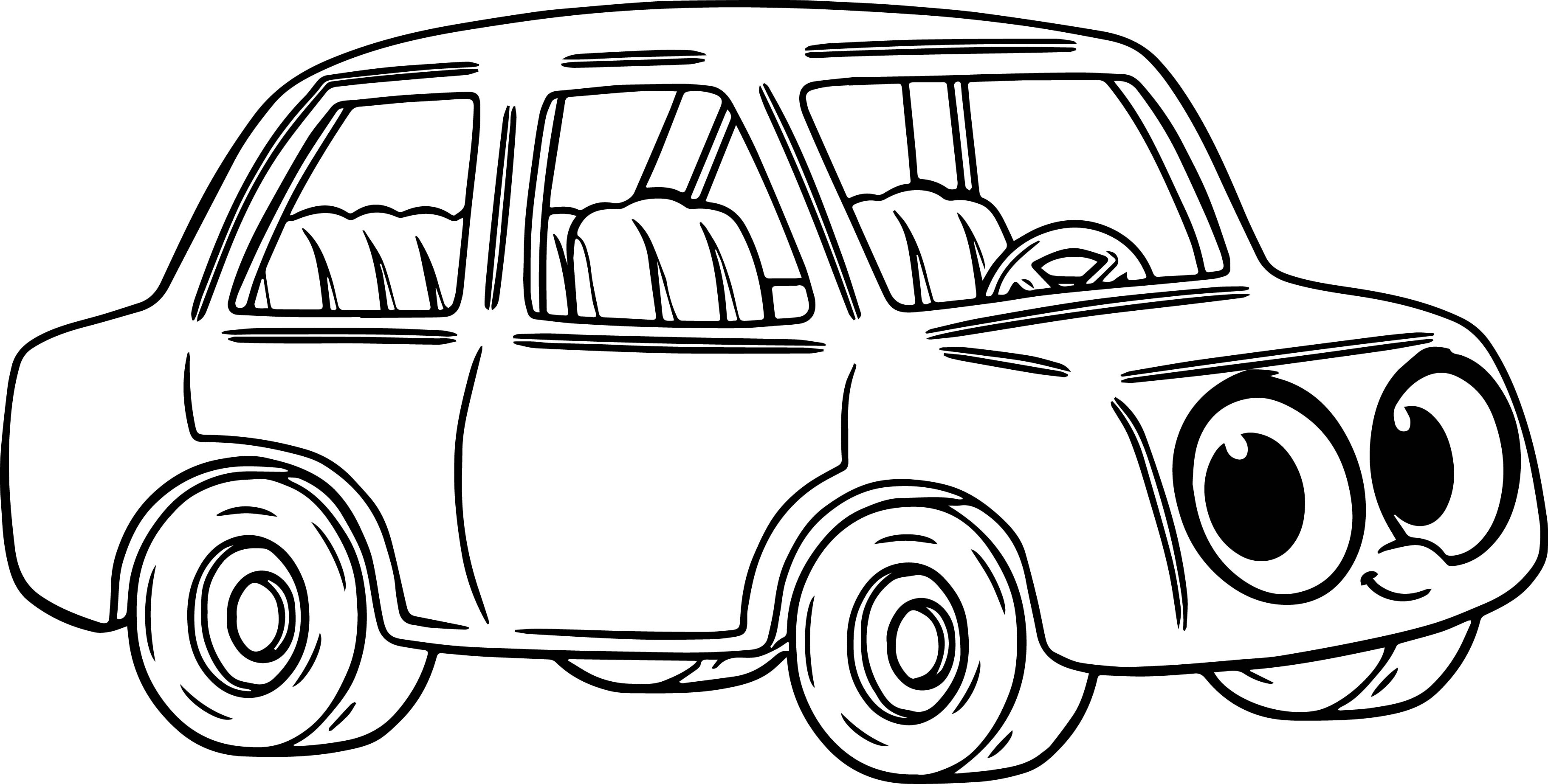 Cartoon Car Coloring Pages At Getdrawings Free Download