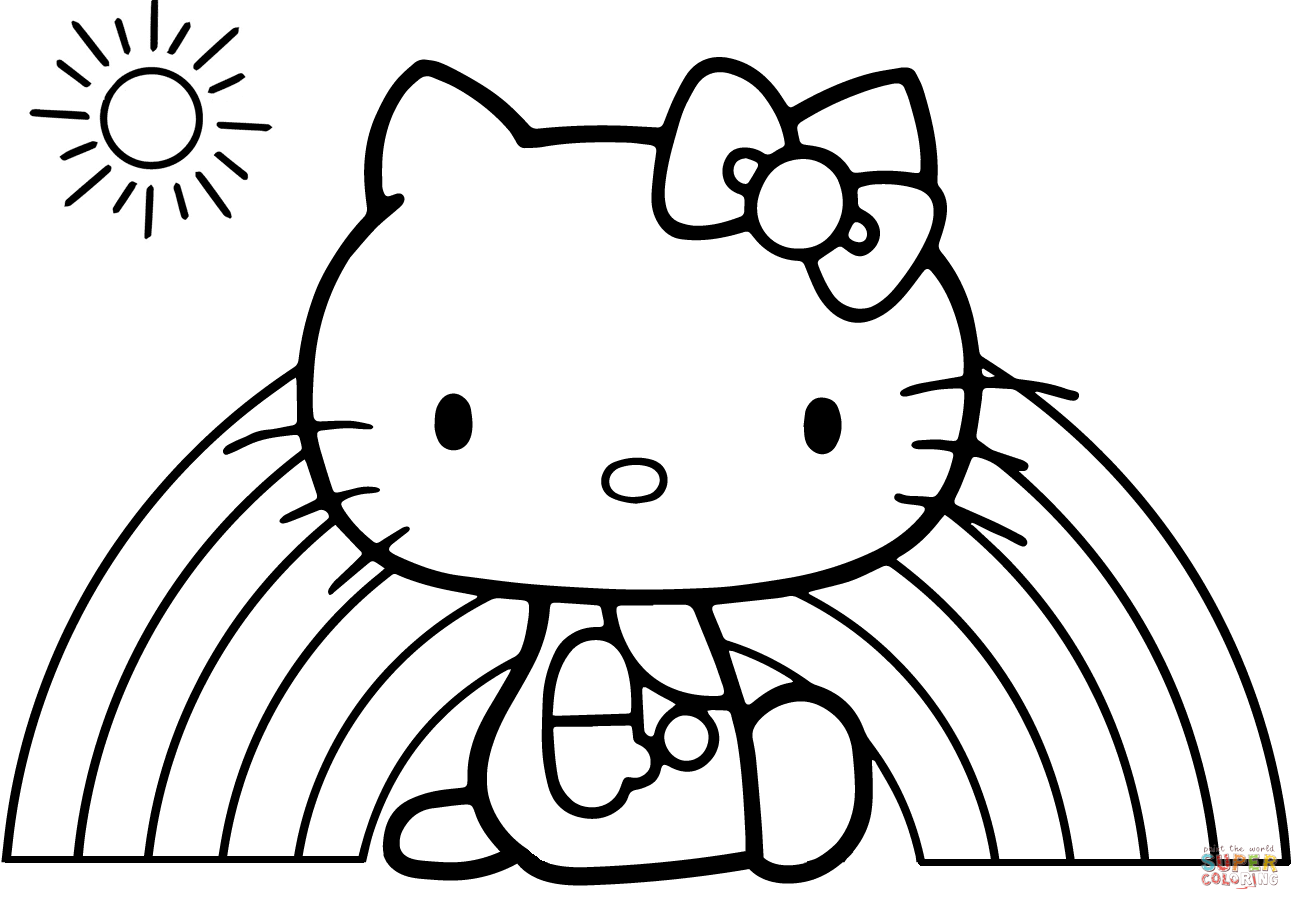 1300x900 Excellent Mermaid Baby Hello Kitty Coloring Pages Free Printable