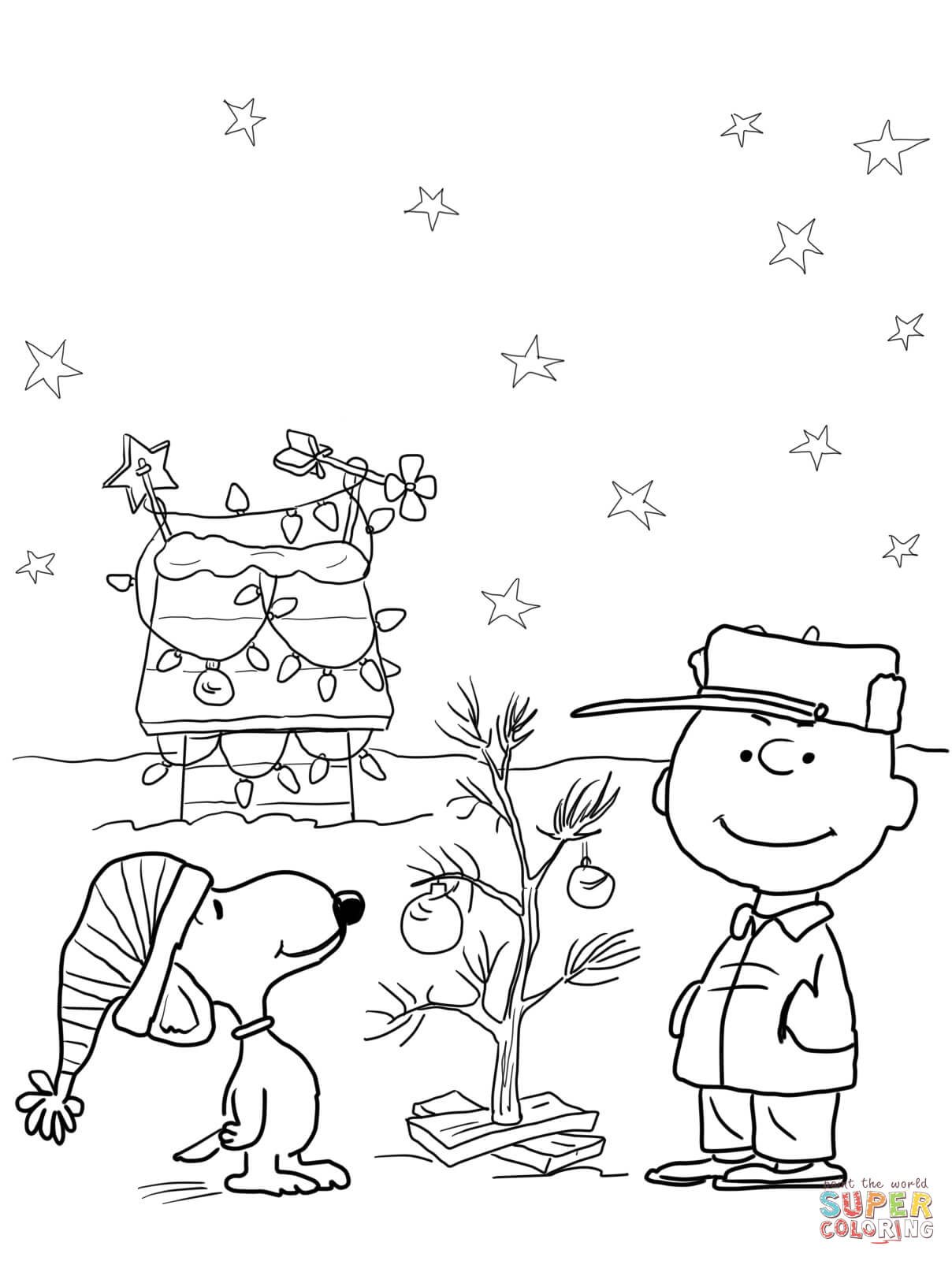 1208x1600 Snoopy Christmas Coloring Pages Free