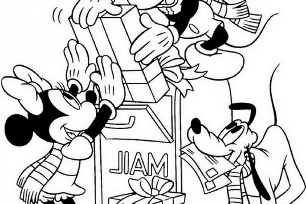 1048x699 Disney Cartoon Christmas Coloring Pages Coloring Pages