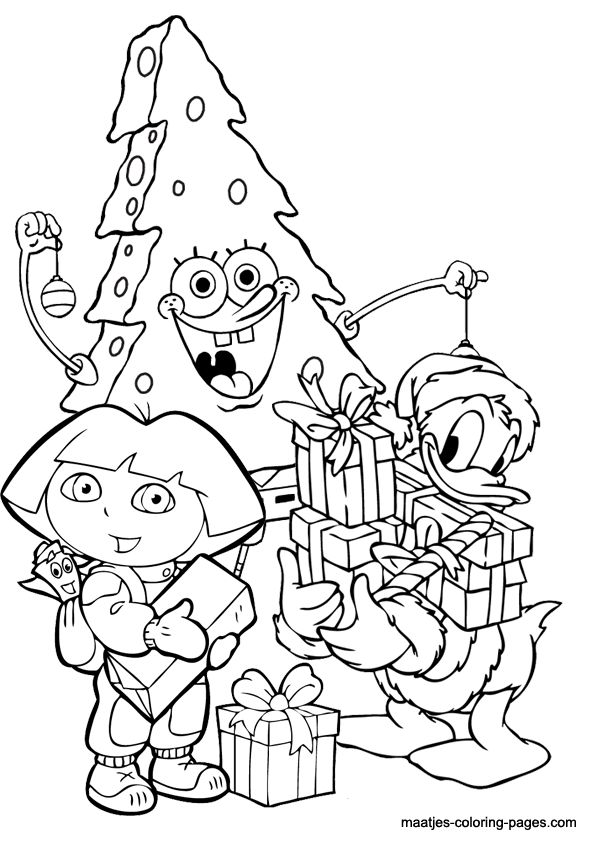 595x842 Dora Christmas Coloring Pages Best Dora Coloring Pages Images