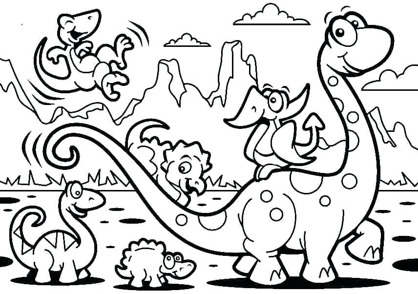 856x602 Coloring Pages Cartoons Coloring Pages Cartoon Dinosaurs Cartoon