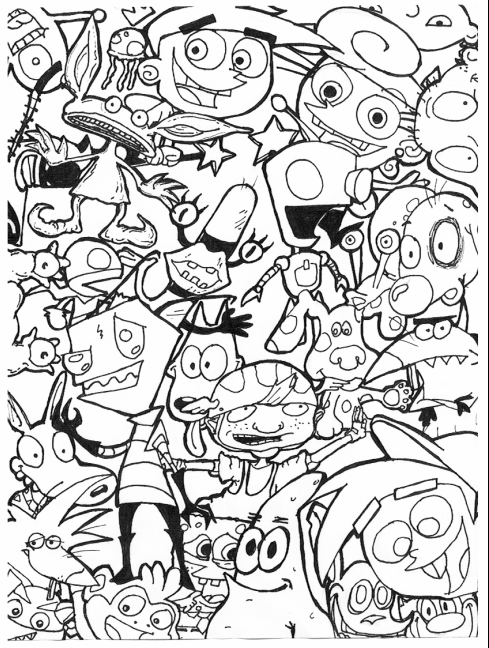 489x648 Cartoon Coloring Pages