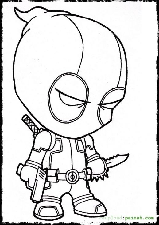 518x730 Deadpool Cartoon Coloring Page Colowing Deadpool