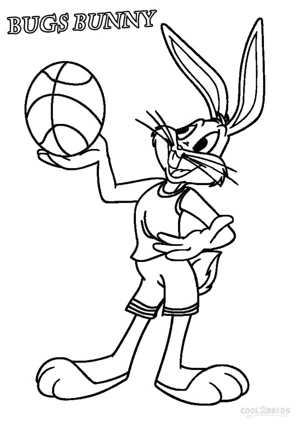 604x850 Printable Bugs Bunny Coloring Pages For Kids