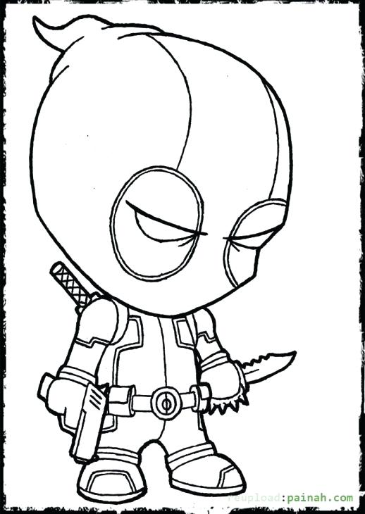 518x730 Deadpool Coloring Pages Cartoon Coloring Page Deadpool Logo