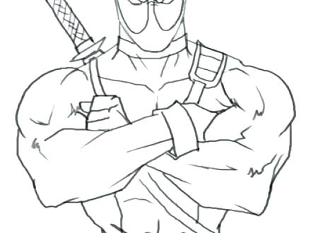 440x330 Print Coloring Pages Unicorn Plus Coloring Page Superhero Deadpool