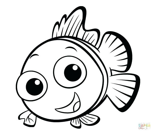 612x529 Coloring Pages Fish